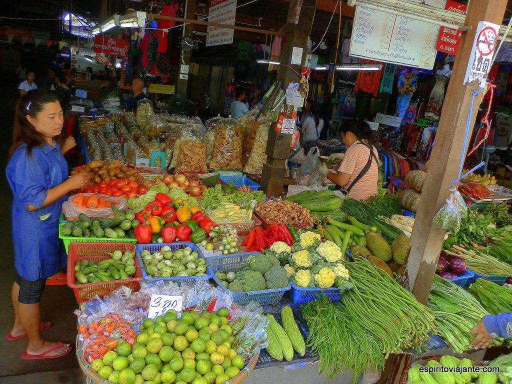 Mercado em Chiang Mai