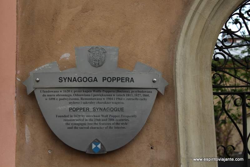 Sinagoga Poppera Synagoga Poppera locais a visitar em Cracóvia