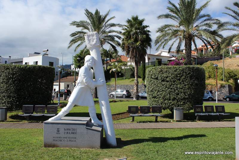 Estatua Machico Proa Madeira