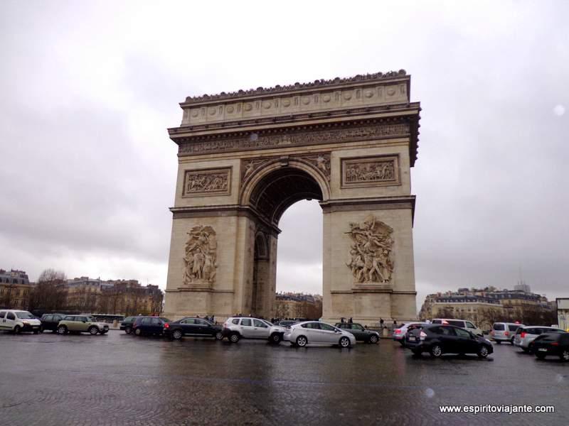 Visitar Paris roteiro Arco do Triunfo