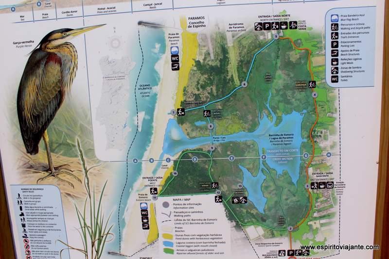 Mapa Lagoa de Paramos
