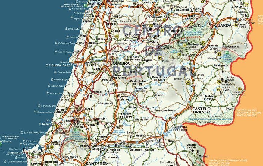 Mapa De Portugal Continental Completo.Mapa De Portugal Geografia E Turismo Das Regioes Espirito
