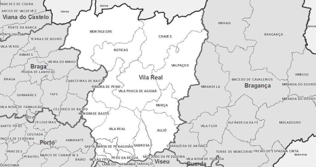 Mapa-de-Portugal-Distrito-de-Vila Real
