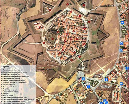 Mapa turístico de Almeida