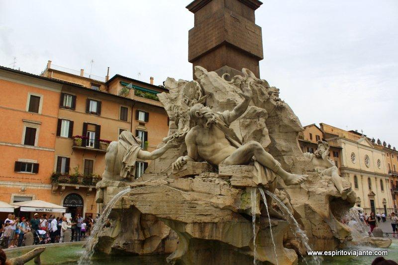 Fontana dei Quattro Fiumi Piazza Navona