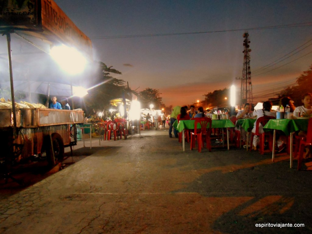 Mercado nocturno Ayutthaya