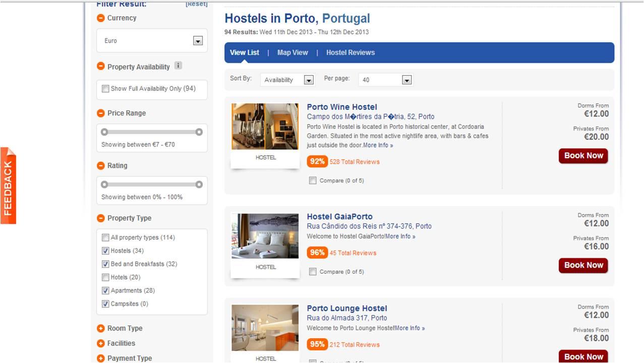 Hostelworld alojamento barato
