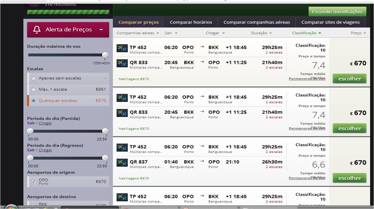 Pesquisa de voos