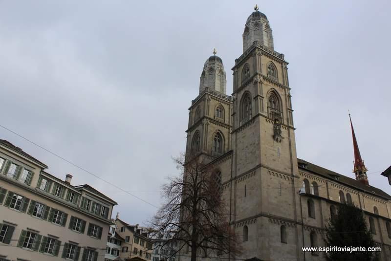 Kirche Grossmünster Zurich Igreja Protestante Zurique Suiça