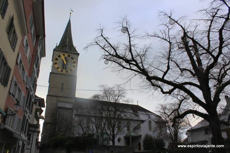 Kirche St. Peter Zurich Zurique Suiça