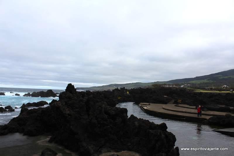 Piscinas naturais de Biscoitos Terceira Açores Azores