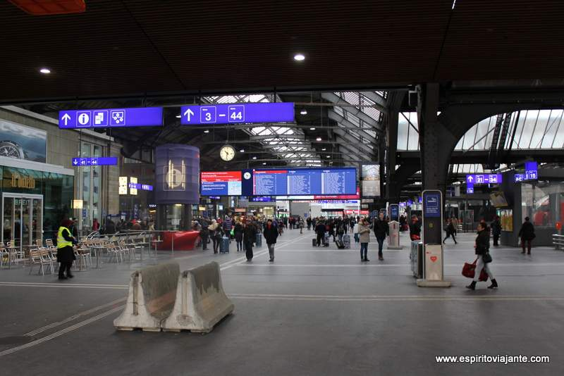 Zurique Hauptbahnhof Estação Ferroviaria - Visitar Zurique