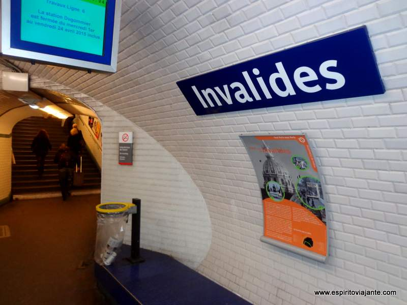 Paris Metro Stations Invalides