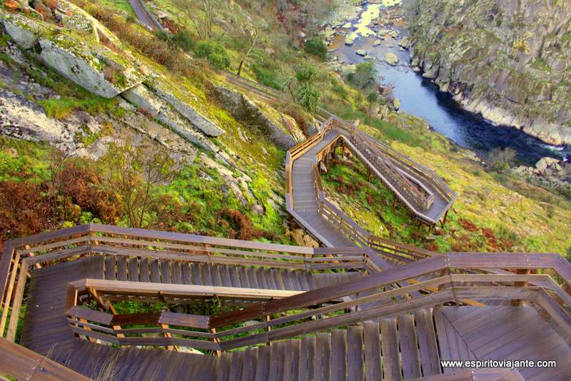 Escadaria Degraus dos Passadiços do Paiva