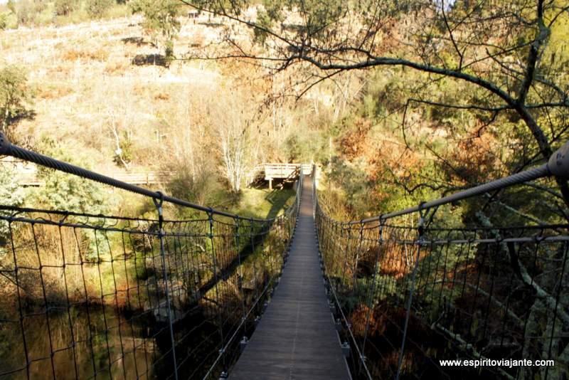 Ponte suspensa Passadiços do Paiva