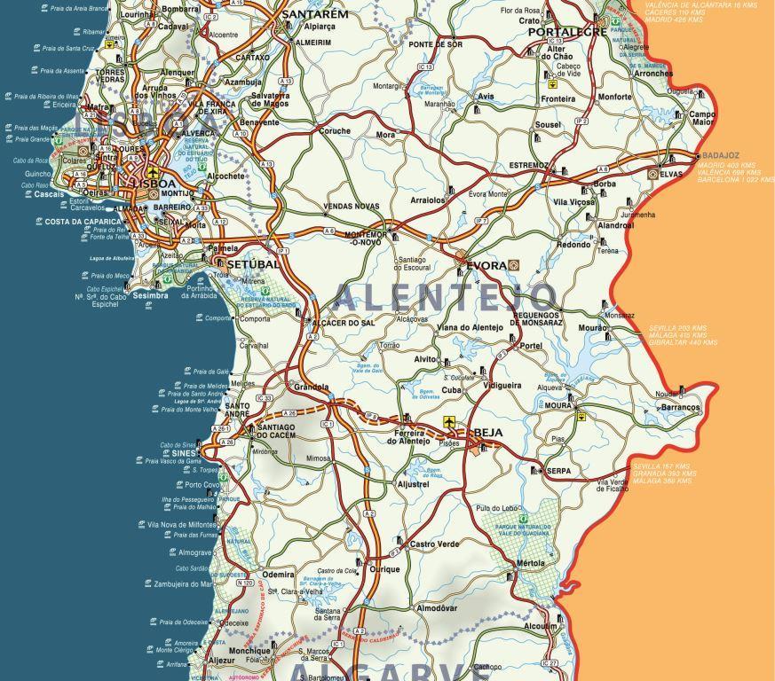 Mapa Alentejo