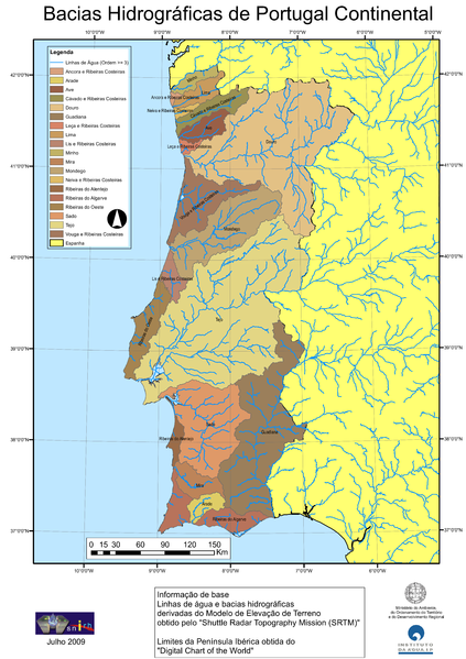 Rios de Portugal Hidrografia