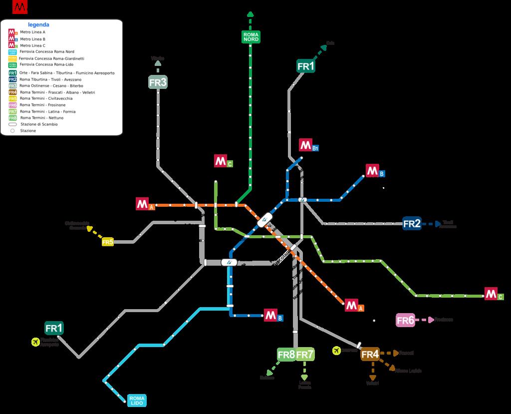 Mapa Metro de Roma